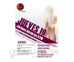 Jueves 19 en CSW: ¡DESNUDA baila SUCIO con DOS!