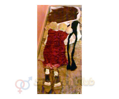 Peluca Vestido lenceria y Zapatillas